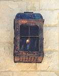 ABGL: aged wall fixture, antique lighting, copper sconce