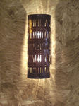BTHS; woven copper wall sconce light fixture