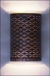 BWWS; woven copper wall fixture