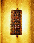 CWWS; woven copper wall sconce light fixture