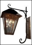 DGHL-2; copper and wrought iron wall sconce light fixture