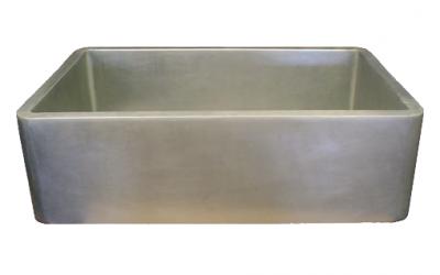 Nickel Silver Smooth Apron Single Basin Farmhouse Sink