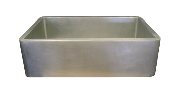 Nickel Silver Smooth Apron Single Basin Farmhouse Sink