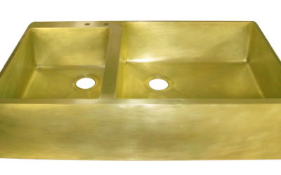 Custom Brass Double Basin Sink
