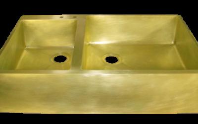 Custom Brass Double Basin Sink