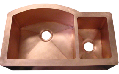 Custom Double Basin with curved wall