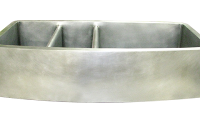 Custom Nickel Silver Triple Basin Sink