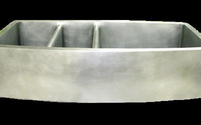 Custom Nickel Silver Triple Basin Sink