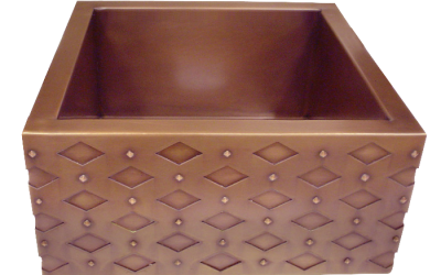 HT15 Bar Sink with Diamond Apron Front