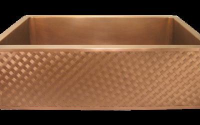 Lattice Weave Front Single Basin Farmhouse Sink