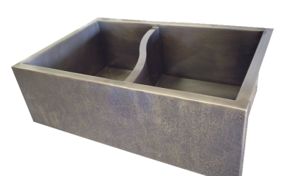 S-divider Double Basin Farmhouse Sink