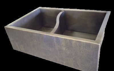 S-divider Double Basin Farmhouse Sink