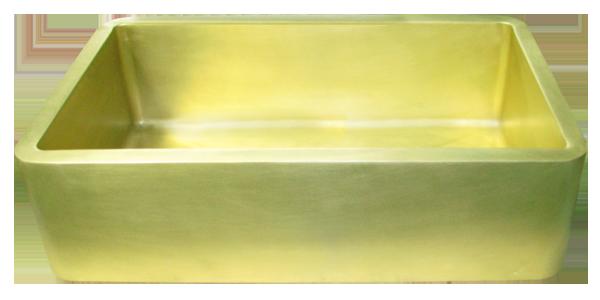 custom brass single basin smooth apron sink - Brass Kitchen Sink