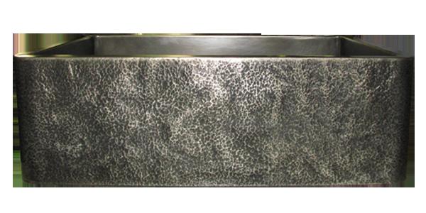 Custom Kitchen Sink Hammered Nickel Silver Apron