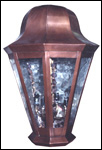 Copper pendant lighting fixture SBHL