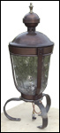 Claudius -  hand forged steel and glass gas lantern