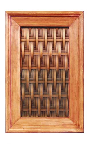 copper kitchen cabinet panel, chair weave design