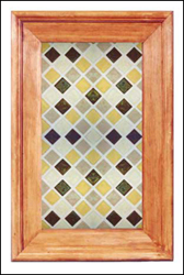 glass cabinet panel, fused glass tile pattern