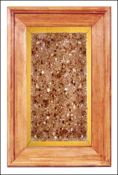 glass cabinet panel; fused glass; faux granite