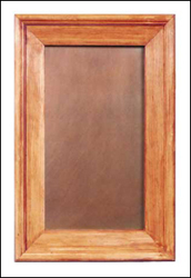 copper cabinet panel; smooth copper in a medium finish