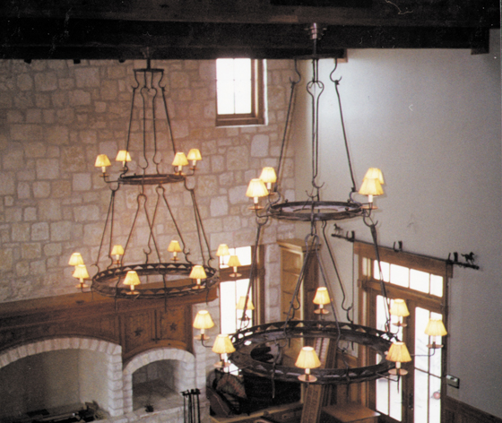 Chandelier lighting - Classic wrought iron chandeliers adding more elegance in the room ...