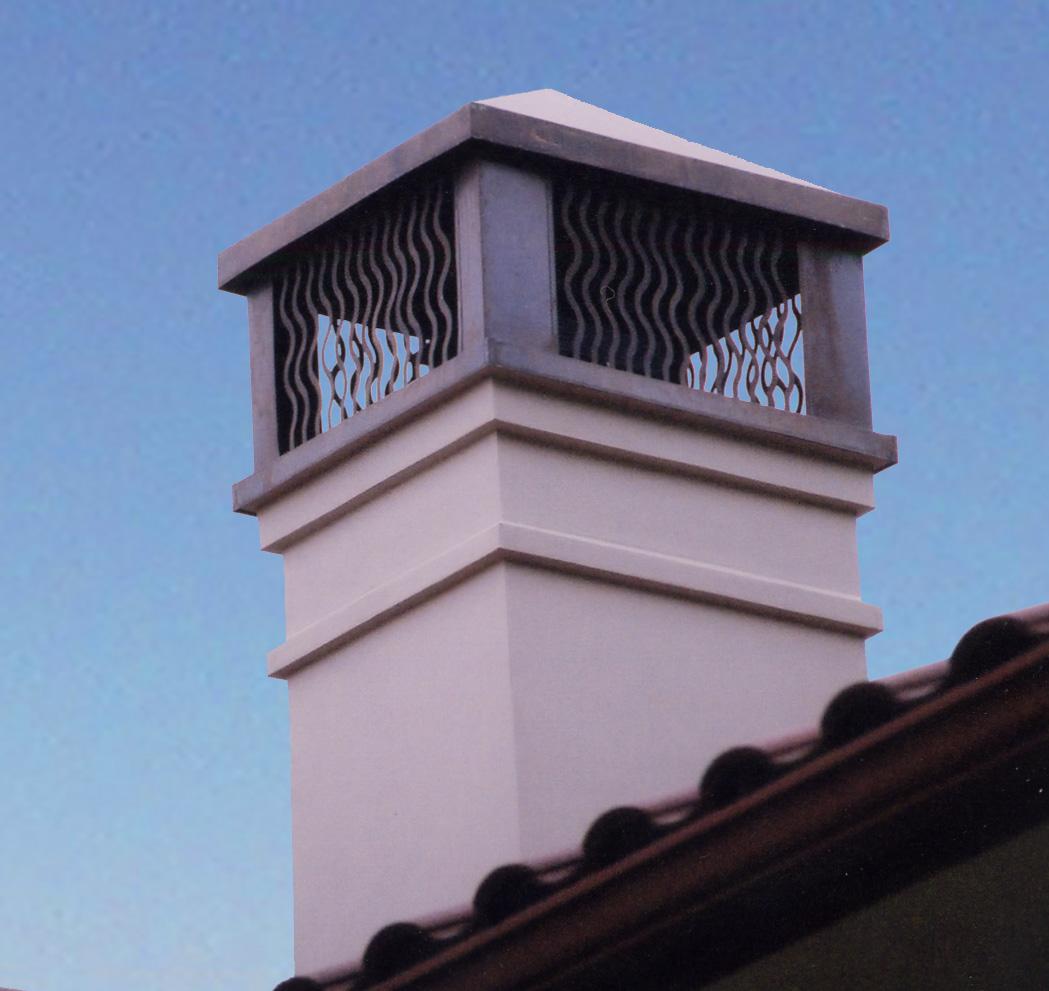 Custom Copper Chimney Cap 3