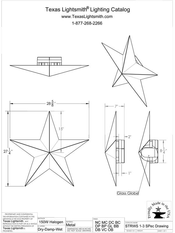 STRWS-1-3 Spec Drawing