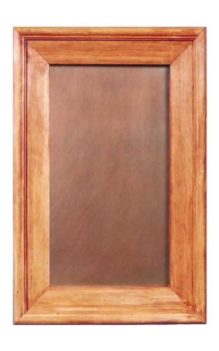 Copper cabinet panel made of smooth copper in a medium finish