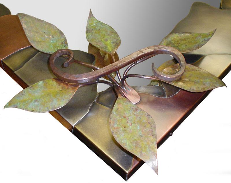 Custom Dragonfly Mirror detail