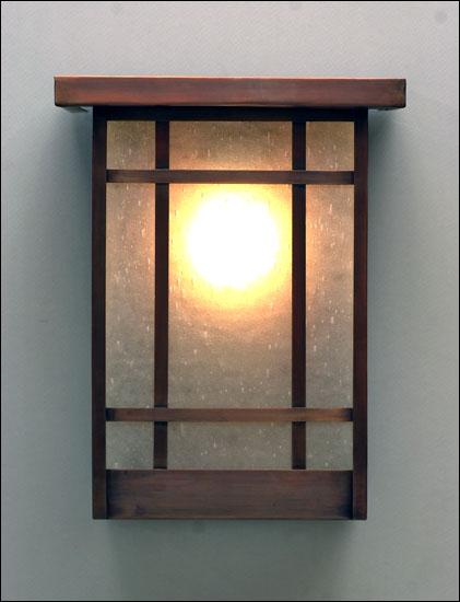 DBWL wall fixture, lit
