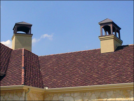 Private Residence 6 - Custom Copper Chimney covers