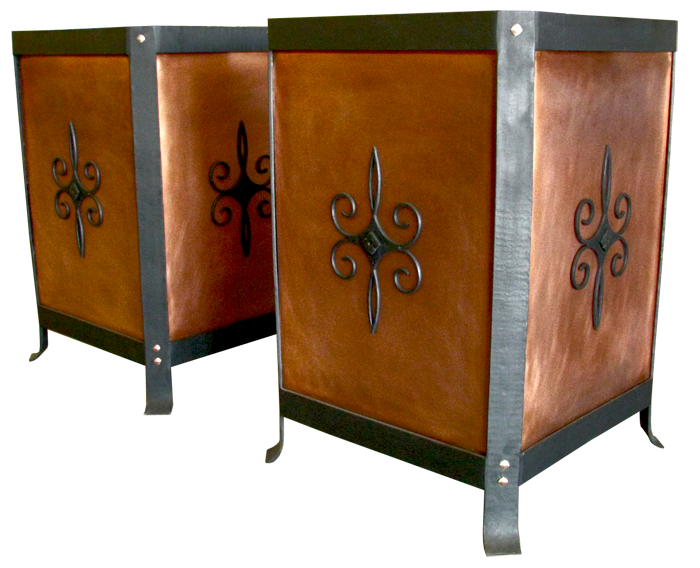 Custom Copper and Iron Planters