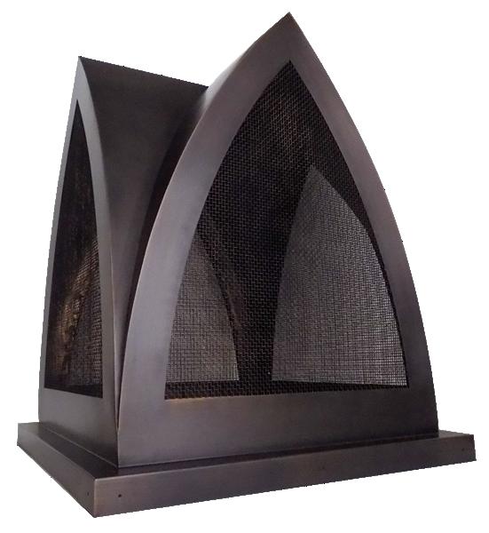 smooth dark copper chimney cap