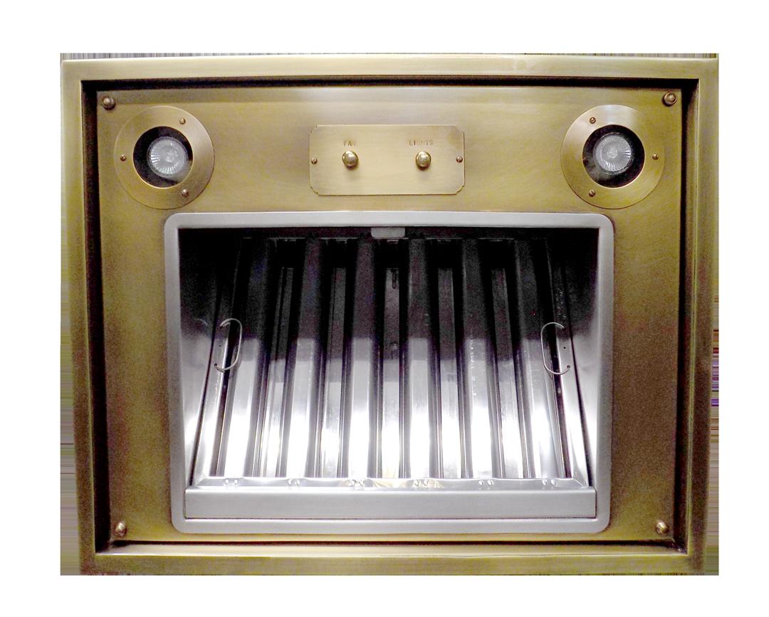 Range Hood 53B Insert showing commercial stainless steel baffle filter.