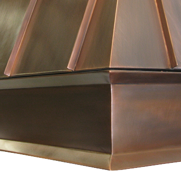 Range Hood 39A Detail showing double angled border #25.