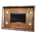 Range Hood 6E custom copper insert with premium double wall liner