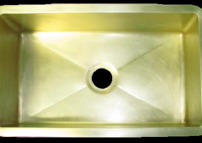 Custom Brass Single Basin Sink