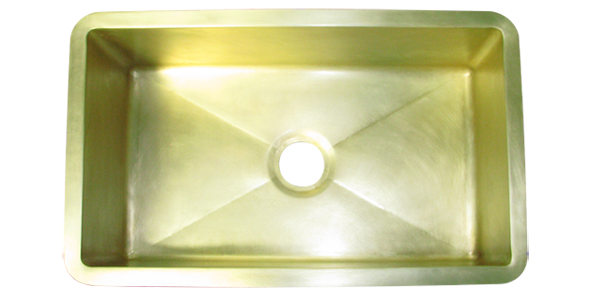 Custom Brass Single Basin Sink