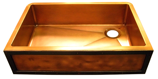 Custom Copper Single Basin Sink