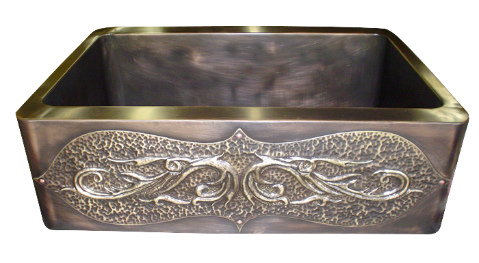 Repousse Applique Apron Front Sink