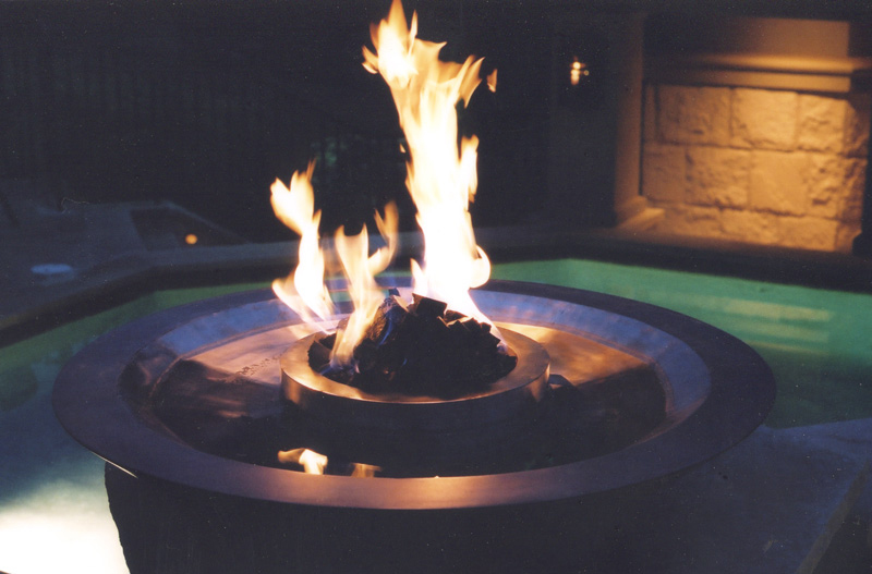 water/fire fountain