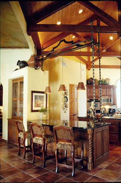 Private Residence 2 bar pendant lights.