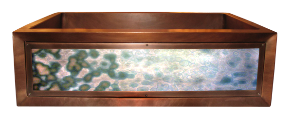 Agate Turchese Luminescent Apron Sink