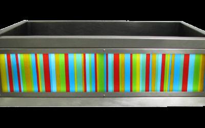 Color Bars Luminescent Apron Sink