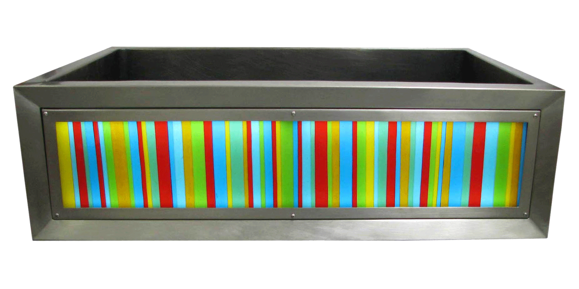 Color Bars Luminescent Apron Sink
