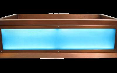 Monochrome Luminescent Apron Sink