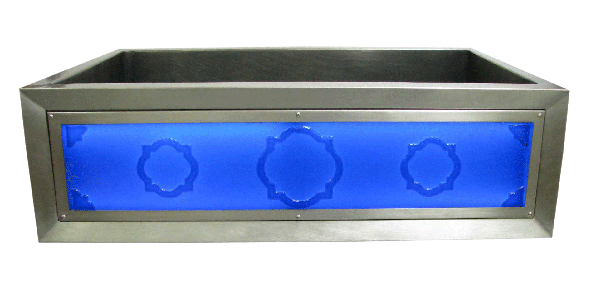 Quatrefoils Luminescent Apron Sink