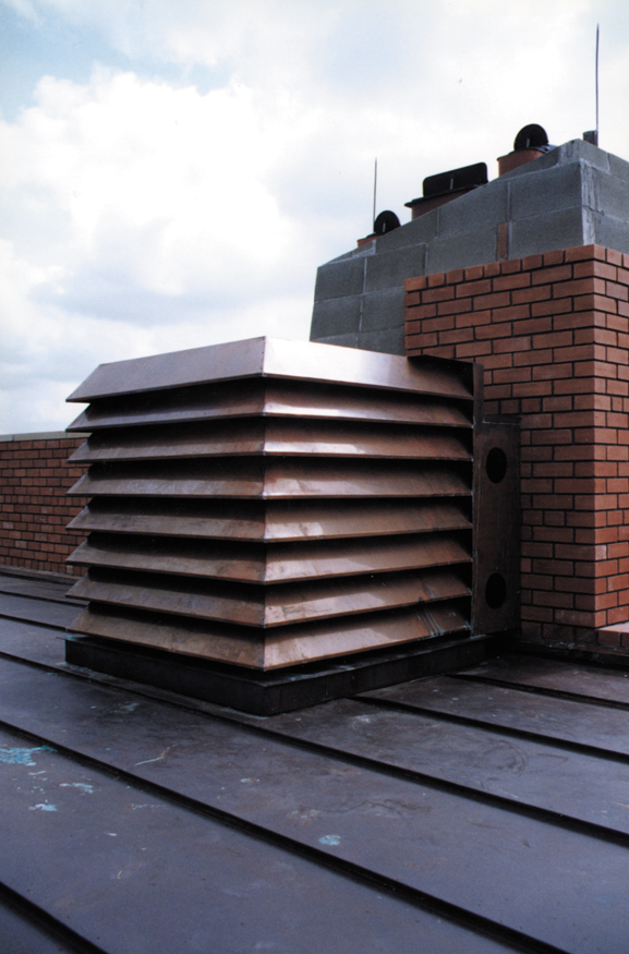 Commercial Copper Louvered AC cover