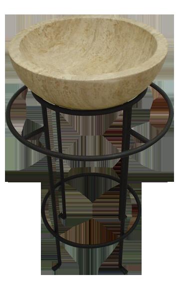 Custom stand for concrete bowl