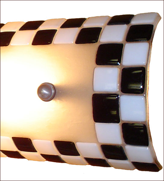 WPRWS Checkered black and white wall sconce